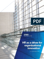 HR as a Driver for Organizational Innovation (KPMG 2013)