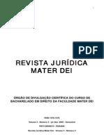 REVISTA JURÍDICA MATER DEI - volume 3