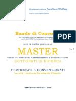 Bando Master Dottorati 2013 2014