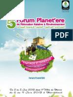 annexe 5me forum planet  ere maroc