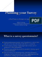 Planning Your Survey
