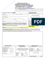 Lincoln Park OPRA Request Form