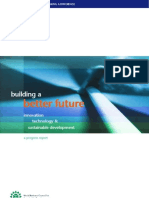 Building a better future -Innovation, sustainable development and techonolgy