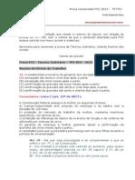 Prova comentada - Técnico Judiciário 2013