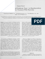Acquired von Willebrand Syndromw Type 1 in Hypothyroidism