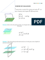 3. Teoreme de Paralelism