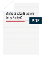 Utilizacion de La Tabla t de Student