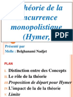 La théorie de la concurrence monopolistique (Hymer, 60)