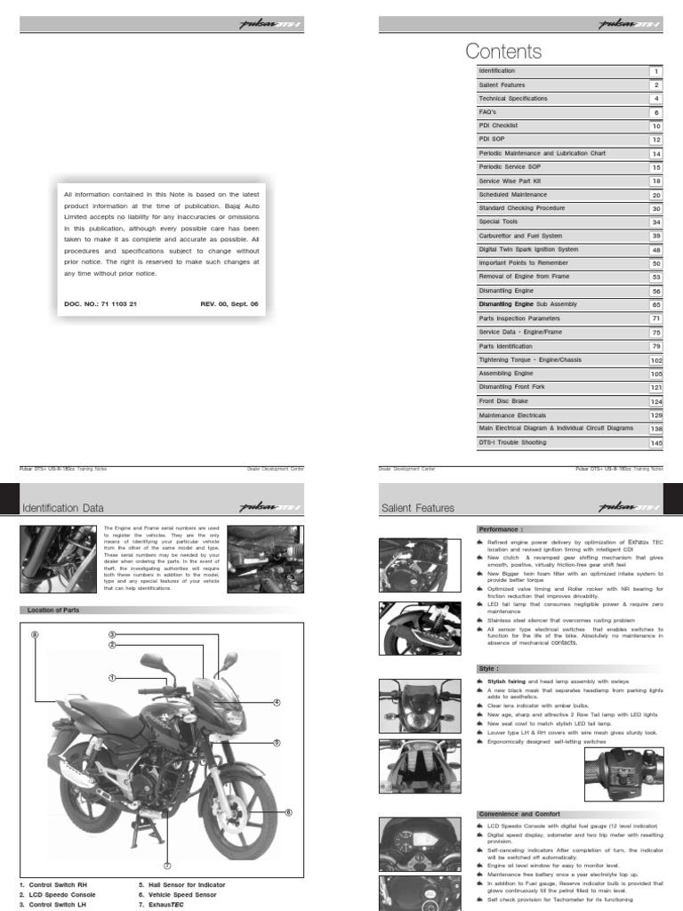service manual bajaj pulsar 220 motor oil throttle rh scribd com manual pulsar 135 ls español manual pulsar 135 ls