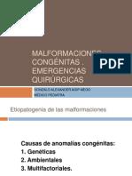 [clase 13] MALFORMACIONES CONGÉNITAS . EMERG QX_AGIP2013