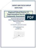 Region 13 Survey and Focus Group Data Files