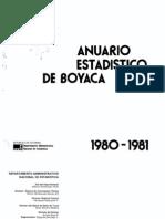 anuario boyacá 1980-1981