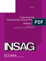 INSAG-26 - Licensing the First Nuclear Power Plant