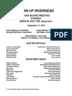 September 17, 2013 - Agenda