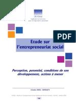 AVISE = Etude Sur l Entrepreneuriat Social