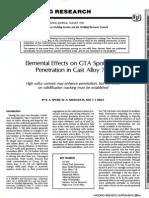 Elemental Effect on Gta Spot Weld Penetration in Cast Alloy 718 - WJ_1990_08_s285