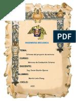 Informe Del Proyecto Del Curso de Motores
