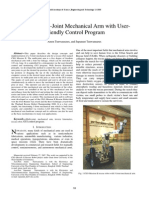 Design of a 5-Joint Mechanical Arm With UserFriendly Control Program