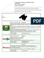 Alimentos Ecologicos, Puntos de Venta y Elaboradores, Islas Baleares, España