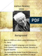 seamus heaney background