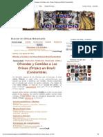 Orisas Venezuela_ Ofrendas y Comidas a Los Orixas (Orisas) en Brasil (Candomble)