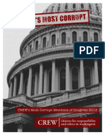 CREW Most Corrupt Members of Congress Report 2013