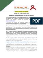 Informe Nro 7 de REDBOL Julio a Agosto 2013
