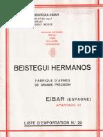 Beistegui Hermanos Libro de Exportaciones