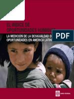Indice de Oportunidades Humanas Resumen