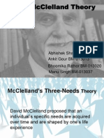 mcclelland's three need theory