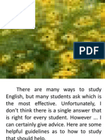 Slide Presentation English is Fun