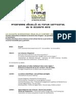Programme forum régional  de la culture scientifique technique et industrielle
