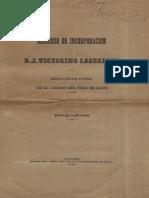 Lastarria, José Victorino - Discurso de incorporación de D. J. Victorino Lastarria a una Sociedad de Literatura de Santiago