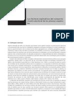 LOS FACTORES EXPLICATIVOS DEL COMPORTAMIENTO ELECTORAL DE LOS JÓVENES ESPAÑOLES
