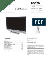 9619 Sanyo LCD-32XH4 Chassis UH2-L Manual de Servicio