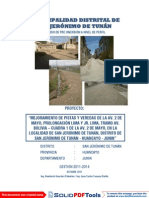Pistas y Veredas San Jeronimo de Tunan