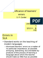 The significance of learners¡¯ errors
