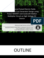 Nanosecond Pulsed Electric Fields (nsPEFs) Low Cost Generator Design using Power MOSFET and Cockcroft-Walton Multiplier Circuit as High Voltage DC Source
