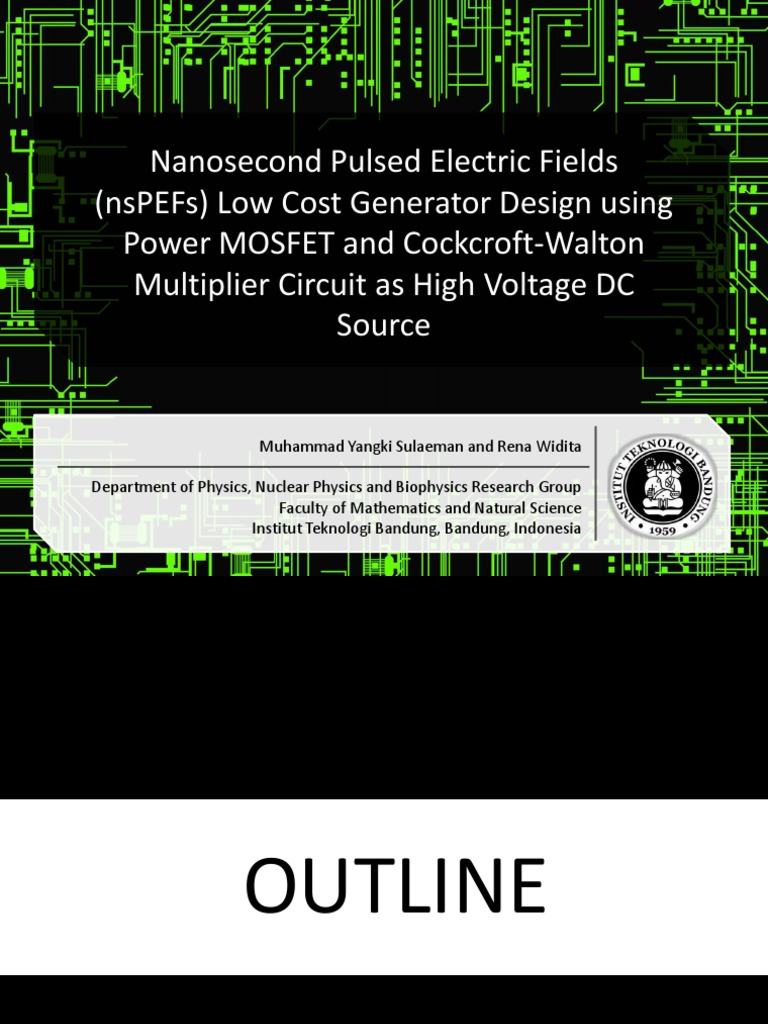 Nanosecond Pulsed Electric Fields Nspefs Low Cost Generator Design Voltage Multiplier Circuit On Dc High Using Power Mosfet And Cockcroft Walton As Source