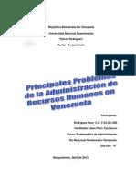 Principales Problemas de la Administración de Recursos Humanos en  Venezuela