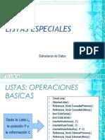 8. Listas Especiales