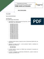 Informe de Actividades Diarias 08-09-2013