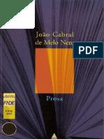 Prosa Joao Cabral de Melo Neto