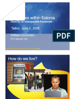 E-services within Estonia. Wilfried Grommen, RTO Microsoft CEE