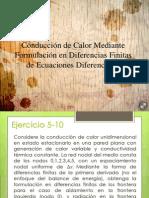 Conducción de Calor Mediante Formulación en Diferencias Finitas