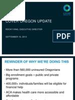 Cover Oregon presentation to legislators