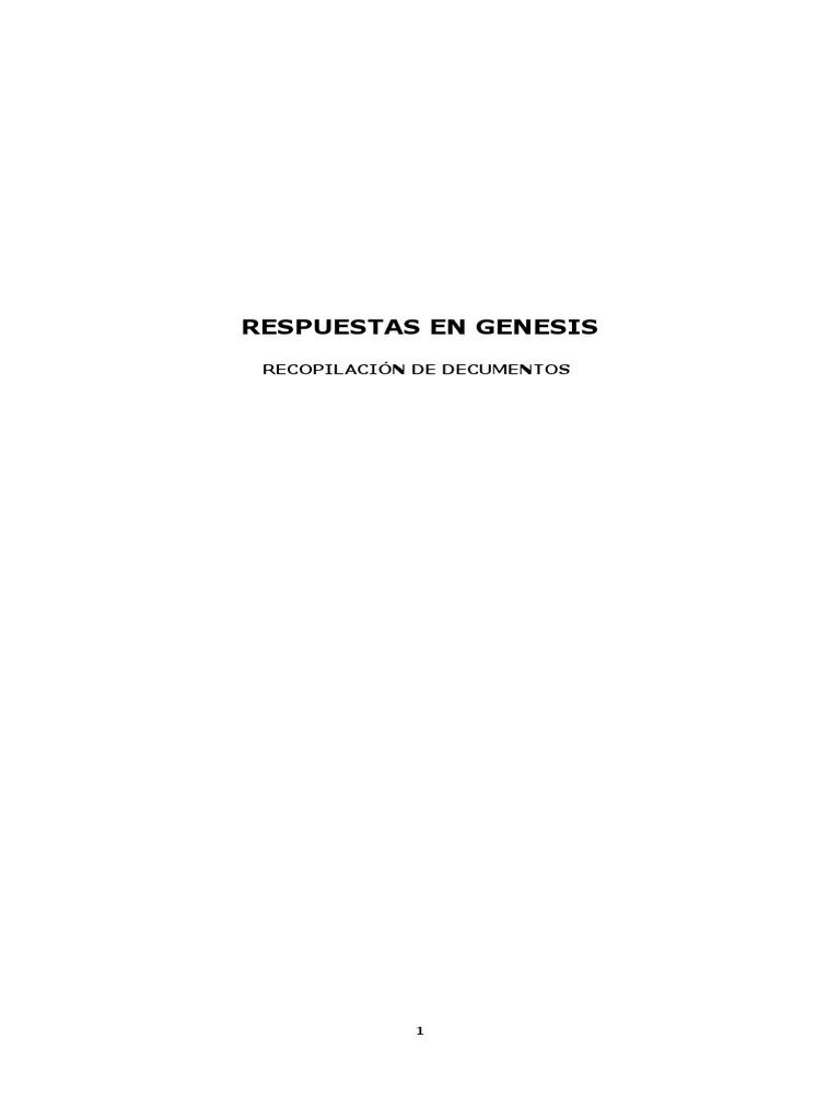 Respuestas en Genesis