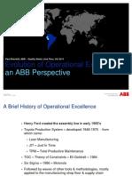Presentacion Evolucion Excelencia Operacional - Paul Brackett - ABB