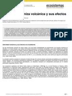 Ceniza Volcanica y Sus Efectos