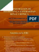 10.- Administración de Hierro en la Enfermedad Renal Crónica1